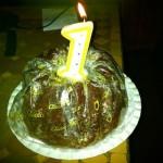 Foto: unser Gast-Robert hat uns einen Kuchen mitgebracht!